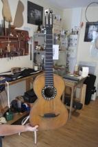 restauration guitare romantique 19éme siecle